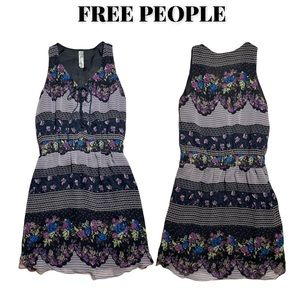 🏝Pre-Owned Free People Sheer Floral Dress, XSmall